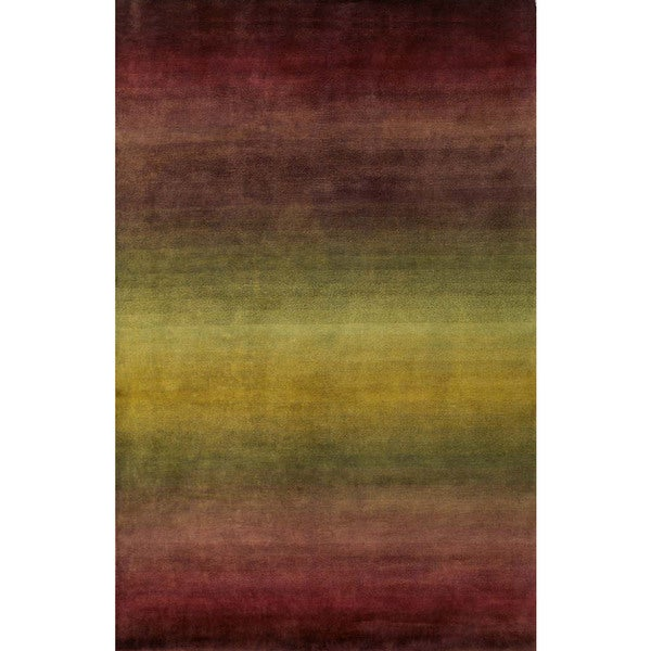 Colorfield Burgundy Indoor Rug - 8' x 10'