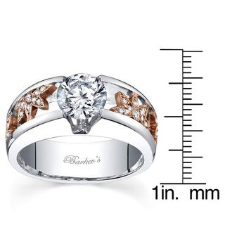 Barkev's Designer 14k 2 Toned Gold 1 1/6ct TDW Diamond Ring (F-G, SI1-SI2)