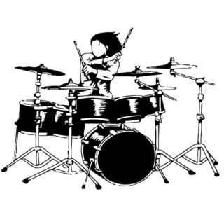 Drum Set Music Vinyl Wall Art
