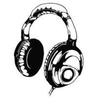 Headphones Music Vinyl Wall Art