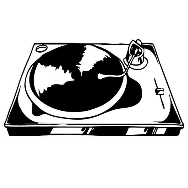 Dj turn Table Music Vinyl Wall Art