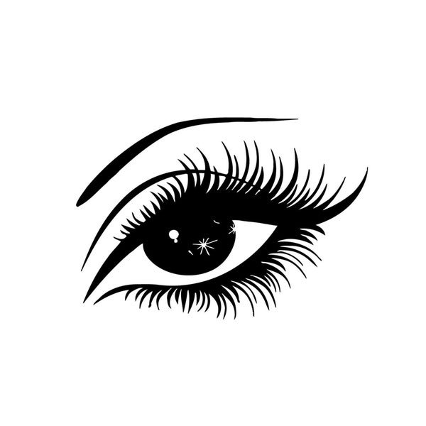 shop eye with lashes vinyl wall art - free shipping on orders over