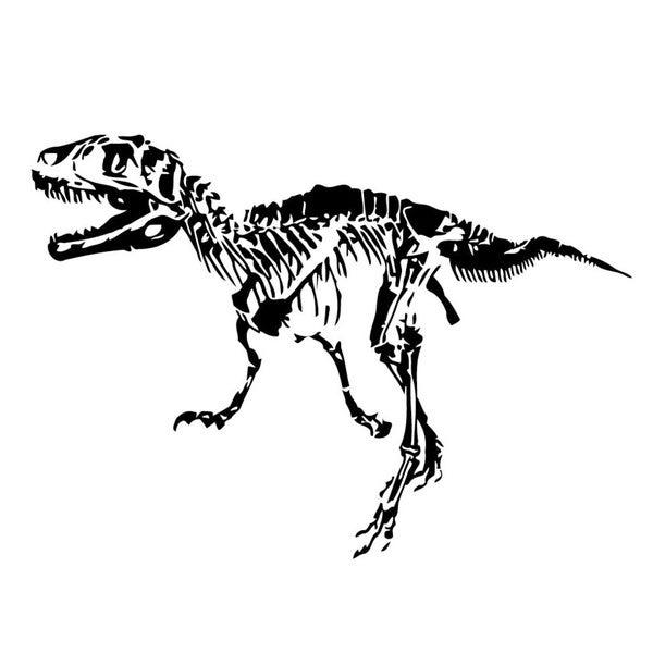 shop dinosaur t-rex skeleton vinyl wall art - free shipping on