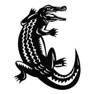 Crocodile Gator Vinyl Wall Art
