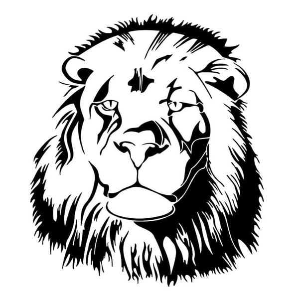 Lion Head Vinyl Wall Art