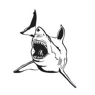 White Shark Vinyl Wall Art