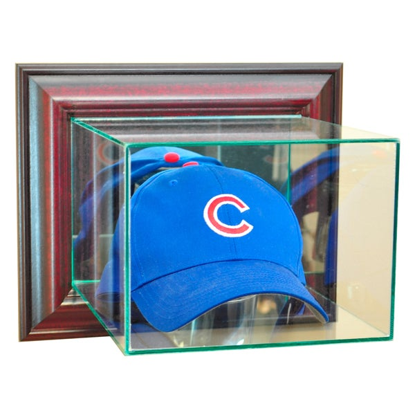 Shop Cherry Finish Wall Mounted Cap And Hat Display Case