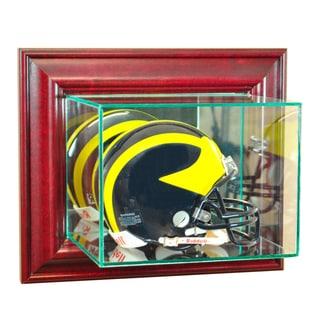 Cherry Finish Wall Mounted Mini Helmet Display Case