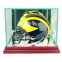 Cherry Finish Mini Football Helmet Display Case