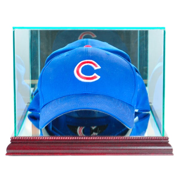 Perfect Cases Cherry Finish Cap and Hat Display Case