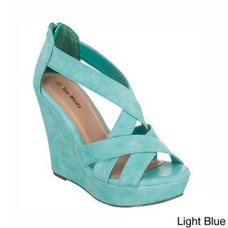 Top Moda Women's 'ELLA-18' Wedge Heel