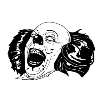Scary Laughing Clown Vinyl Wall Art
