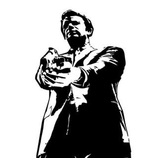 Man with Gun Vinyl Wall Art