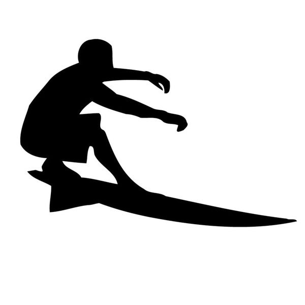Surfer on Board Vinyl Wall Art