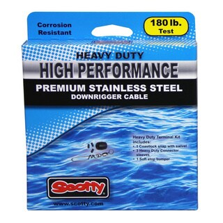 Scotty HP SS Replacement Downrigger Cable 180-pound Test