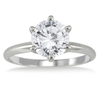 14k White Gold 1 1/2ct TDW Round Diamond Ring (3 options available)