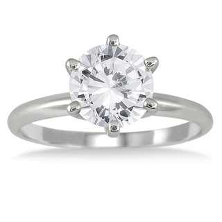 14k White Gold 1 1/2ct TDW Round Diamond Ring (I-J, I1-I2)
