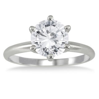 14k White Gold 1 1/2ct TDW Round Diamond Ring