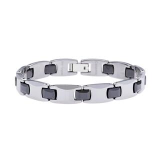 Tungsten and Ceramic Bracelet