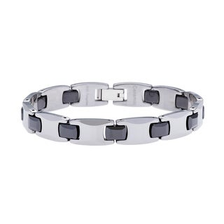 Tungsten and Ceramic Bracelet