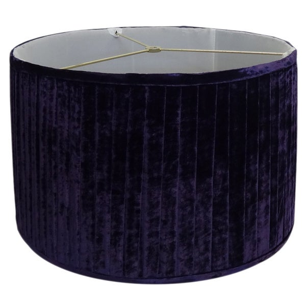 Pleated purple velvet lamp shade free shipping today for Purple beaded lamp shade