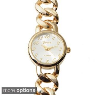 Geneva Platinum Women's Round Face Chain Link Wrap Watch