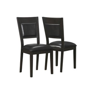 Cappuccino/ Brown Upholstered Dining Chairs (Set of 2)