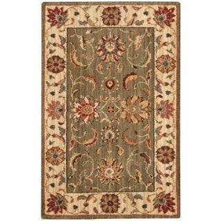Nourison Living Treasures Green Rug (1'9 x 2'9)