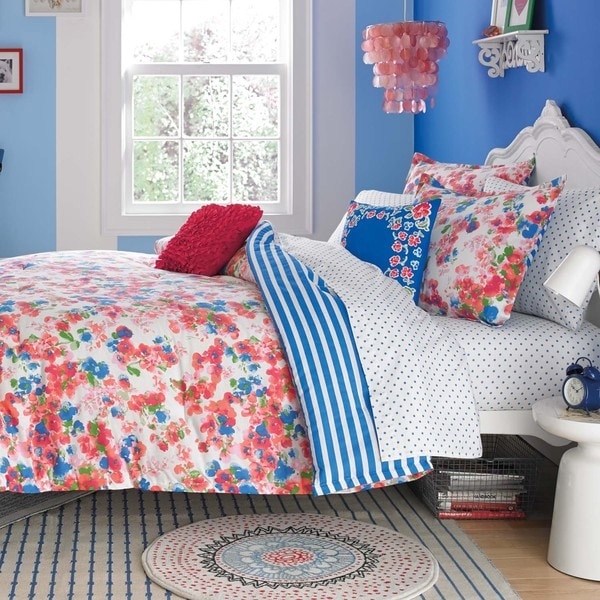 Shop Teen Vogue Rosie Posie Cotton 3-piece Comforter Set - Free ...