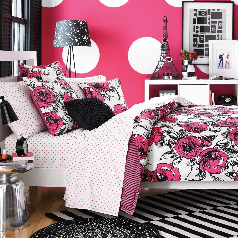 Teen Vogue Sketched Roses Cotton 3-piece Comforter Set