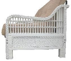 Kauai Full Wicker Futon Frame