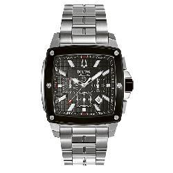 Bulova Men's Marine Star Black Square Watch - Thumbnail 1