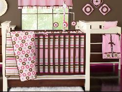 Bacati Mod Dots 12-piece Crib Bedding Set