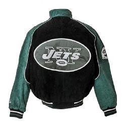 super popular f3356 dcae4 NFL New York Jets Full-zip Suede Varsity Jacket