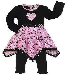 Sweet Jojo Designs Girls' Bandana Hanky/ Leggings Set