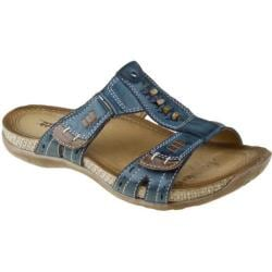 Women's Earth Abaca Dark Blue Full Grain Leather