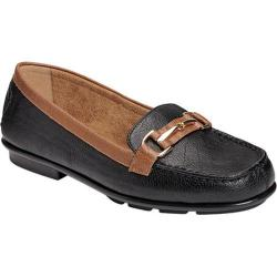 Women's A2 by Aerosoles Nu World Loafer Black Combo Faux Leather