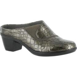 Women's Easy Street Sly Clog Pewter Patent Croco/Gore