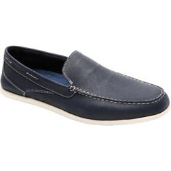 Men's Rockport Bennett Lane Cape Noble 3 Venetian Navy Washable Nubuck