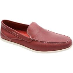 Men's Rockport Bennett Lane Cape Noble 3 Venetian Red Washable Nubuck
