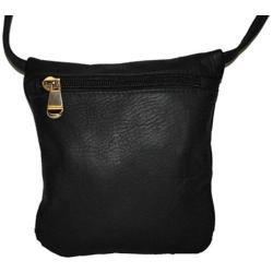Women's David King Leather 507 Top Zip Mini Bag Black