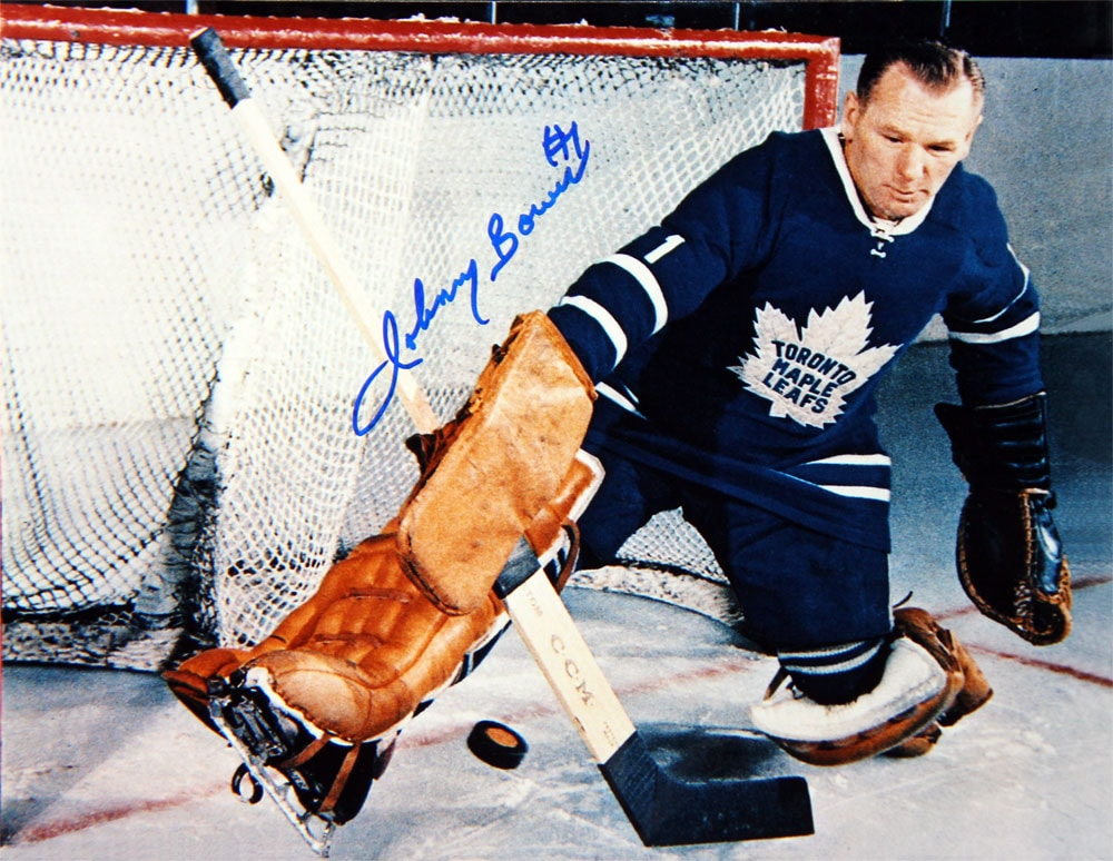 Johnny Bower Autographed 8X10 Photo - Toronto Maple Leafs (Horizontal)
