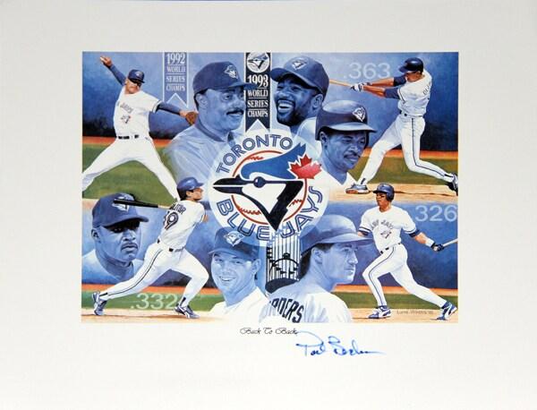 Pat Borders Autographed Lithograph - Toronto Blue Jays