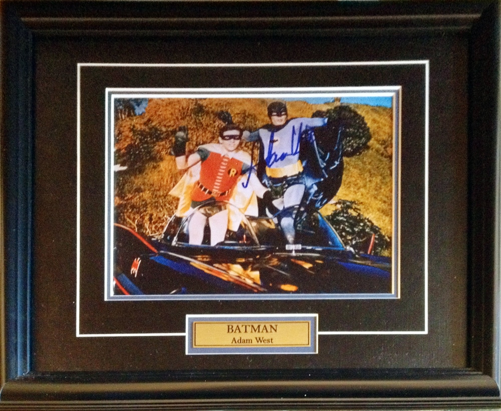 Batman - Adam West - Facsimile Autograph - Framed