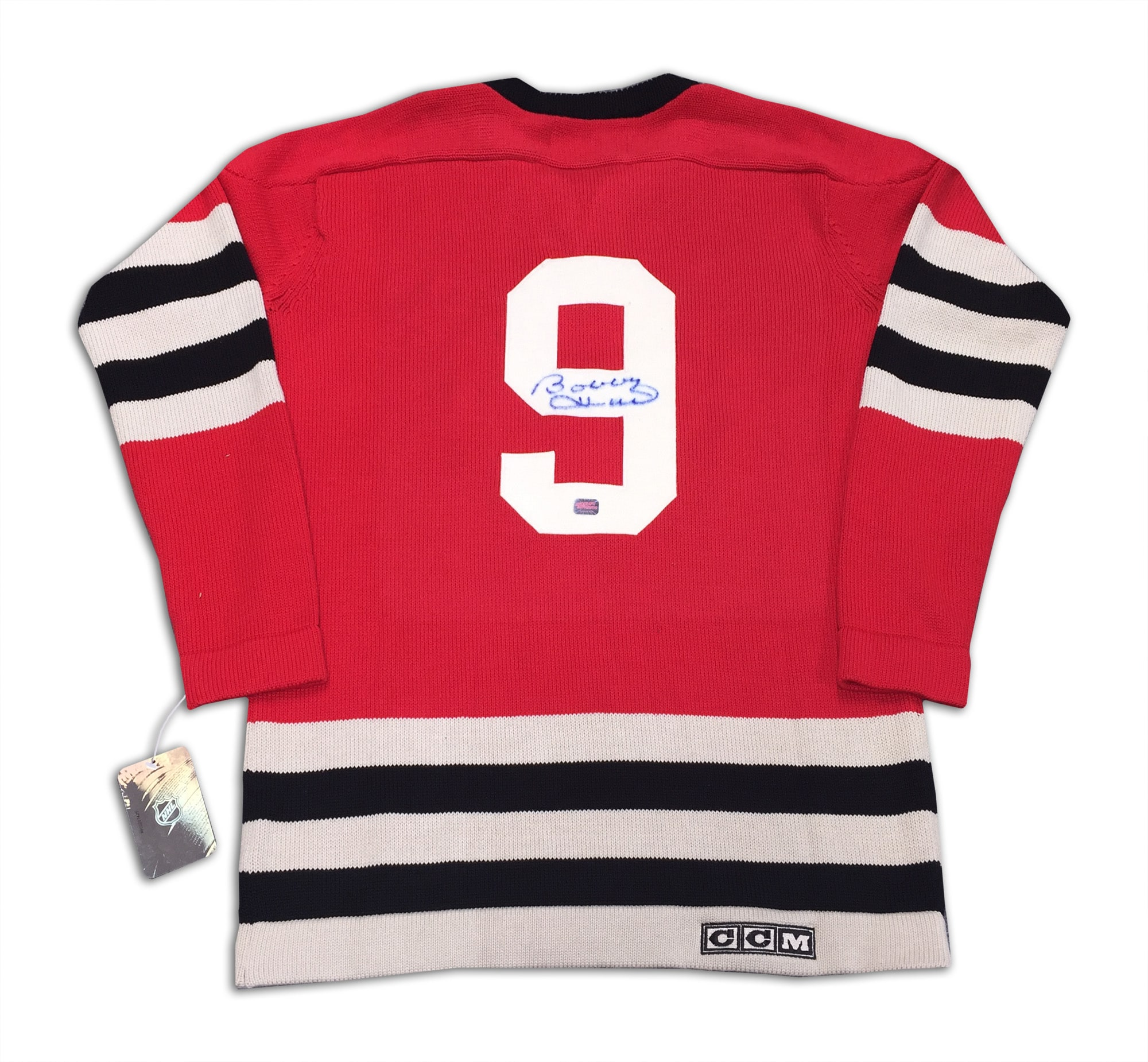 Bobby Hull Autographed Red Wool Chicago Blackhawks Jersey