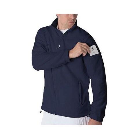 Men's Fila Fundamental Microfleece Jacket Peacoat/Peacoat