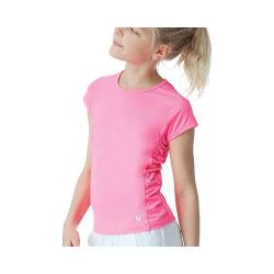 Girls' Fila Cap Sleeve Ruched Top Knockout Pink