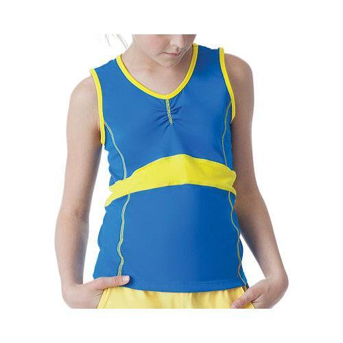 Girls' Fila Spirit Full Back Tank Royal Spirit/Lemon Twist
