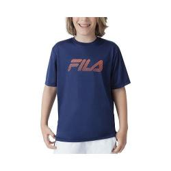 Boys' Fila Pro Printed Crew Navy Power/Shocking Orange