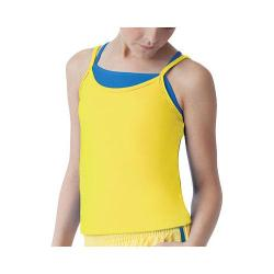 Girls' Fila Spirit Double Layer Tank Lemon Twist/Royal Spirit